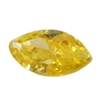 CZ: Yellow Diamond - Marquise 2mm x 4mm Pkg - 10