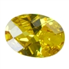 CZ: Yellow Diamond - Oval - Checkerboard 13mm x 18mm Pkg - 1