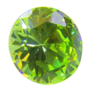 CZ: Round 4mm Green Apple Pkg - 4
