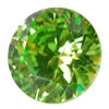 Cubic Zirconia - Green Apple - Round 8mm Pkg - 1