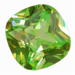 CZ: Cubic Zirconia - Green Apple - Cushion 14mm