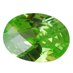 CZ: Green Apple - Oval - Checkerboard 4mm x 6mm