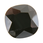 Cubic Zirconia - Jet Black - Cushion 14mm Pkg - 1
