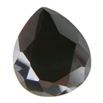 Cubic Zirconia - Jet Black - Pear 10mm x 12mm Pkg - 1