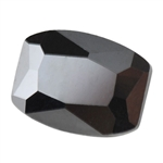 Cubic Zirconia - Jet Black - Barrel 6mm x 8mm Pkg - 2