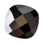 Cubic Zirconia - Jet Black - Cushion - Checkerboard 6mm Pkg - 2