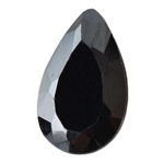 Cubic Zirconia - Jet Black - Pear 5mm x 8mm Pkg - 4