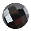 CZ: Jet Black - Cabochon Round - Checkerboard 8mm Pkg - 1