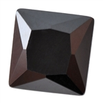 Cubic Zirconia - Jet Black - Square 6mm Pkg - 2