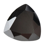 Cubic Zirconia - Jet Black - Trillion 6mm Pkg - 2