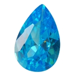 CZ: Blue Topaz - Pear 6mm x 9mm