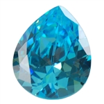 CZ: Blue Topaz - Pear 10mm x 12mm