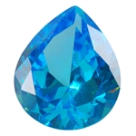 CZ: Blue Topaz - Pear 12mm x 14mm