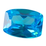 CZ: Blue Topaz - Barrel 4mm x 6mm