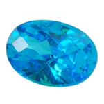 CZ: Blue Topaz - Oval - Checkerboard 4mm x 6mm