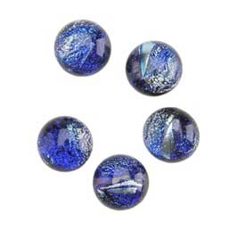 Dichroic Gems - Blue Small - 6mm to 10mm - 5 gems