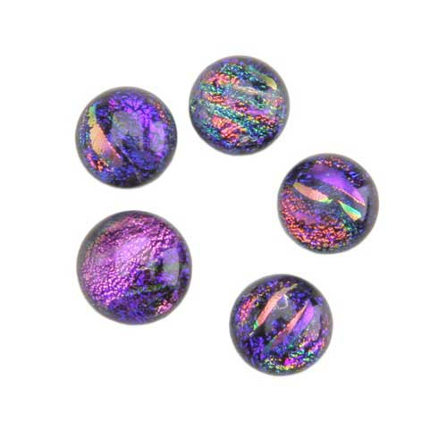 dichroic gems purple small 6mm to 10mm 5 gems cool