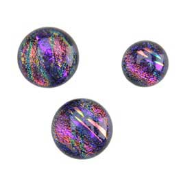 Dichroic Gems -Purple Medium - 12mm to 16mm - 3 gems
