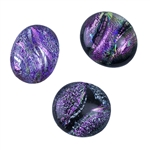 Dichroic Gems - Pink Large - 16mm to 20mm Pkg - 3