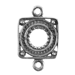 Silver Plate Connector - Round About