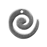 Silver Plate Charm - Swirl