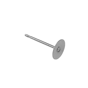 Sterling Silver Post - 6mm Pad Pkg - 6