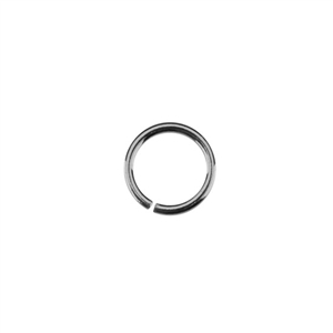 Sterling Silver Open Jump Rings - Round 6mm 20 gauge