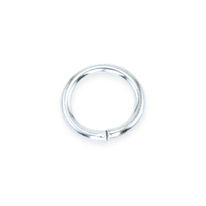 Silver Plate Open Jump Ring - Round 2.4mm 20 gauge