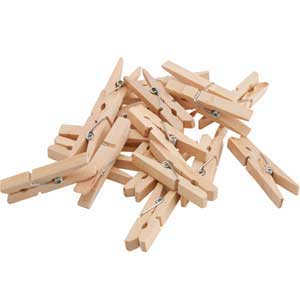 Mini Wooden Clothespins 2""