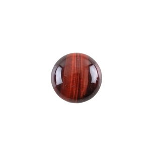 Natural Tiger Eye Red Gemstone - Cabochon Round 15mm