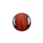 Natural Tiger Eye Red Gemstone - Cabochon Round 20mm Pkg - 1