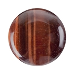 Natural Tiger Eye Red Gemstone - Cabochon Round 25mm Pkg - 1