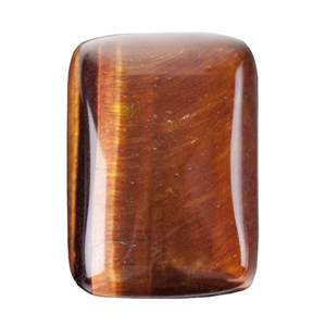 Natural Tiger Eye Red Gemstone - Cabochon Rectangle 13x18mm