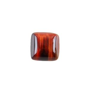 Natural Tiger Eye Red Gemstone - Cabochon Square 12mm