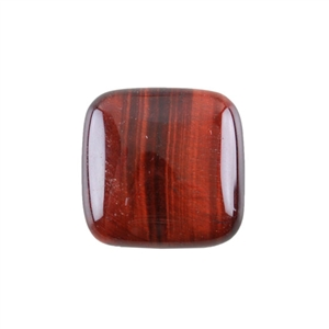 Natural Tiger Eye Red Gemstone - Cabochon Square 25mm