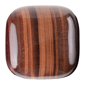 Natural Tiger Eye Red Gemstone - Cabochon Square 30mm