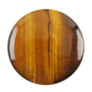 Natural Yellow Tiger Eye Gemstone - Cabochon Round 10mm