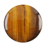 Natural Yellow Tiger Eye Gemstone - Cabochon Round 35mm