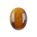 Natural Yellow Tiger Eye Gemstone - Cabochon Oval 7x9mm