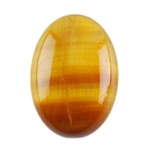 Natural Yellow Tiger Eye Gemstone - Cabochon Oval 10x14mm