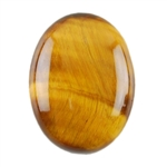 Natural Yellow Tiger Eye Gemstone - Cabochon Oval 12x16mm