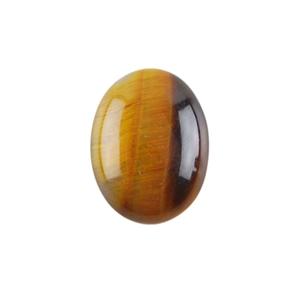 Natural Yellow Tiger Eye Gemstone - Cabochon Oval 15x20mm Pkg - 1