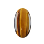 Natural Yellow Tiger Eye Gemstone - Cabochon Oval 20x35mm Pkg - 1