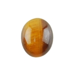 Natural Yellow Tiger Eye Gemstone - Cabochon Oval 8x10mm Pkg - 1