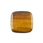 Natural Yellow Tiger Eye Gemstone - Cabochon Square 22mm Pkg - 1