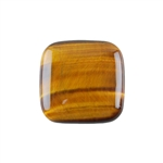 Natural Yellow Tiger Eye Gemstone - Cabochon Square 25mm