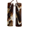 Natural Peanut Wood Gemstone - Pendant Rectangle 11mm x 40mm - Matched Pair
