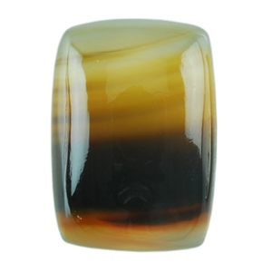 Montana Agate Gemstone - Rectangle Cabochon 11mm x 15mm Pkg - 1