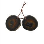 Septarian Gemstone - Freeform Pendant 24x26mm - 1 Pair