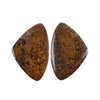 Natural Bronzite Gemstone - Cabochon Triangles 19x29mm - 1 Pair